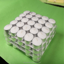 plastic bag packing tealight candle to sell