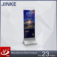 2016 JINKE NEW ARRIVAL!! Glass Advertising Displays For Showroom, Standee Glass Signboards, DIY Poster Stands For Shopping Malls