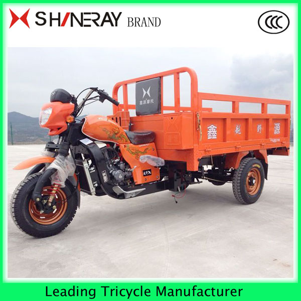 gas motor tricycle three wheel cargo bike cargo motorcycle 2017