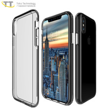 2018 2 in 1 case for iphone x 10 back cover piece thin,for iphone x 10 heavy duty clear case