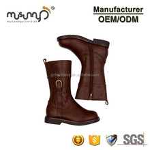 Wholesale Girl Tall Classic Boots Genuine Leather Zipper Knee Over Booties For Kids