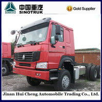 China 6x4 truck trailer head for towing container semi trailers