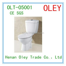 Bathroom sets ceramic two piece high quality toilet crown