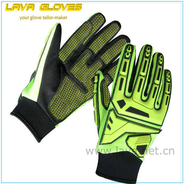 Hi-vis cut resistance heavy duty impact mechanic <strong>gloves</strong>