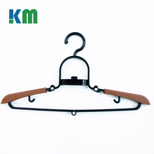 High Quality Custom Black Velvet Plastic Folding Clothes Hangers
