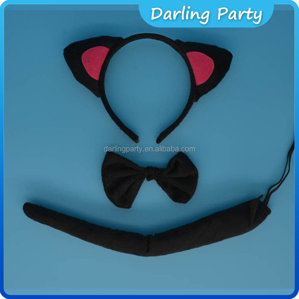 Halloween Party Cartoon Animal Ear Headband Tail sets