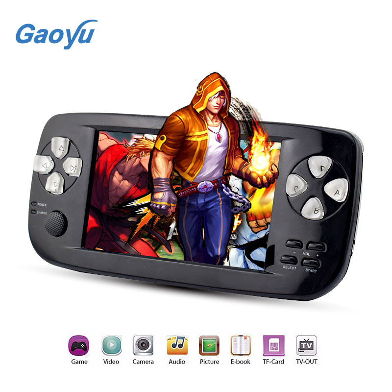 HOT SALE 2017 New 4.3 Inch HD Game Console 32 Bit Portable Handheld Game Players For GBC/SFC/CP1/NEO/GEO Format 500+ Inner game