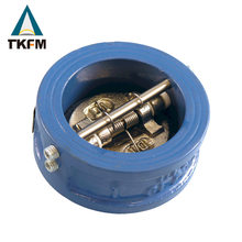 TKFM Best selling water gas oil medium wafer type cast iron material non-return flap type check valve fuel