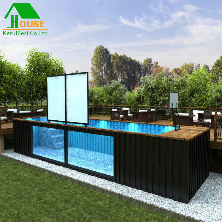 Cheap Outdoor Glass Wall Steel Structure Shipping Container Swimming Pool -  Buy Low Cost Shipping Container Swimming Pool,Glass Swimming Container ...