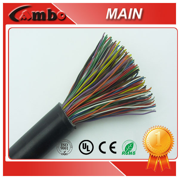 Telecom Purpose 2/20/50/100/200 Pairs 0.5mm Bare Copper Underground Jelly Filled Telephone Cable
