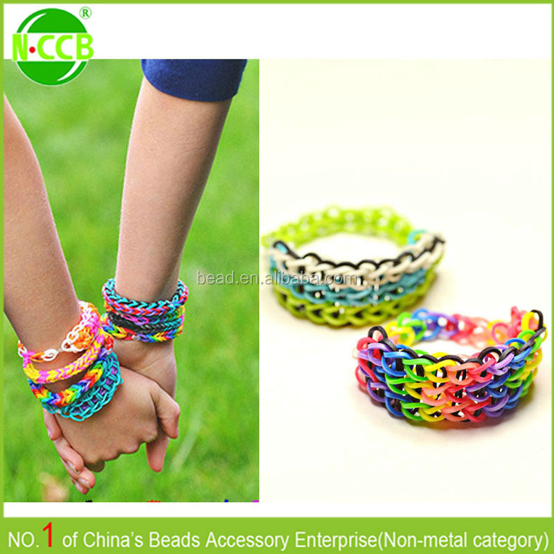 Silicone loom bracelet / Mini rubber band /DIY loom bands