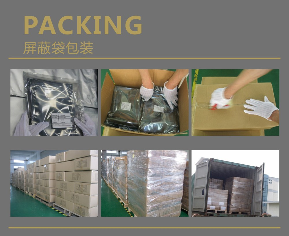 Hot sale silver packaging bags customized esd shielding film/roll/sheet/bag