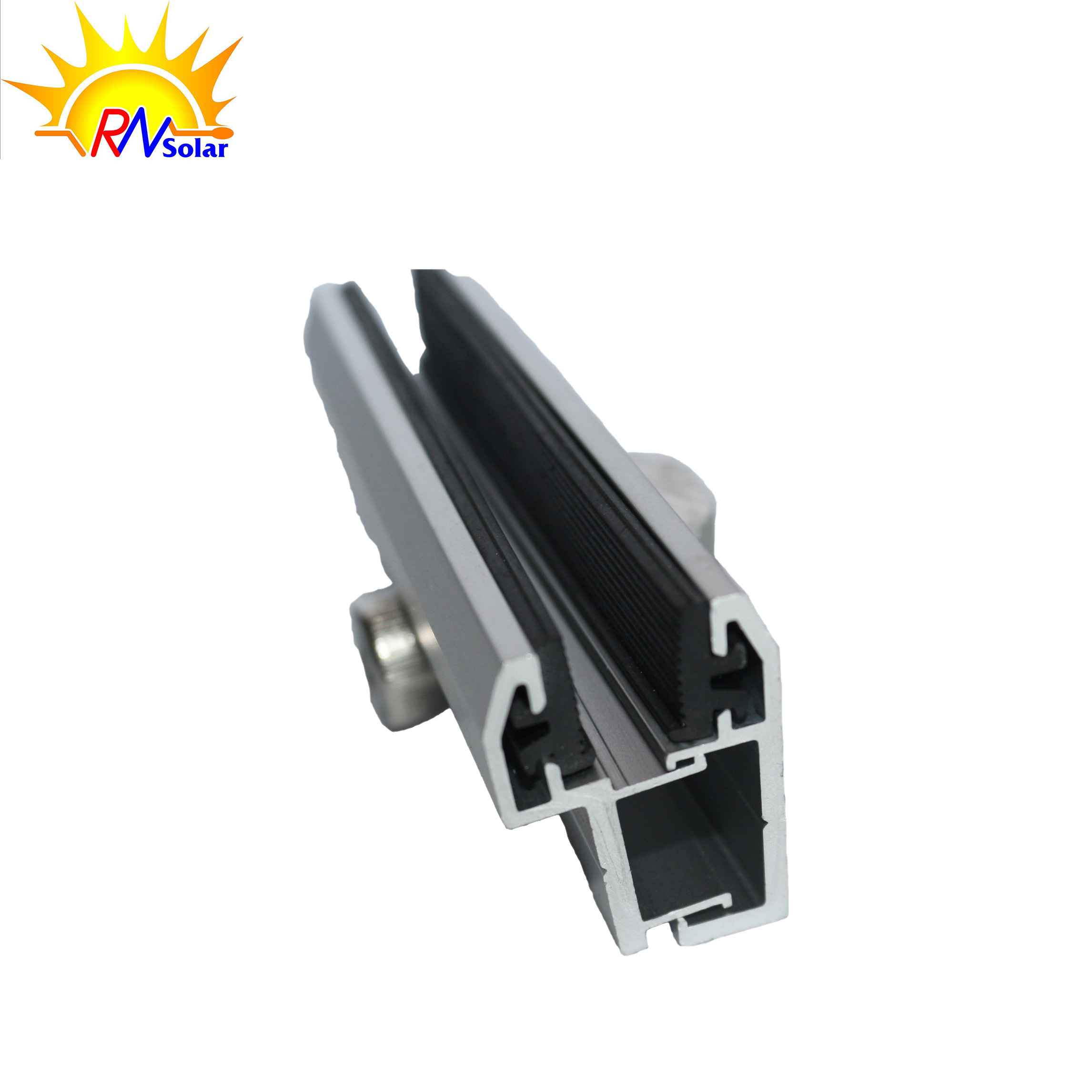 Anodized Aluminium Mid and End Frameless The Film Solar Panel Clamp