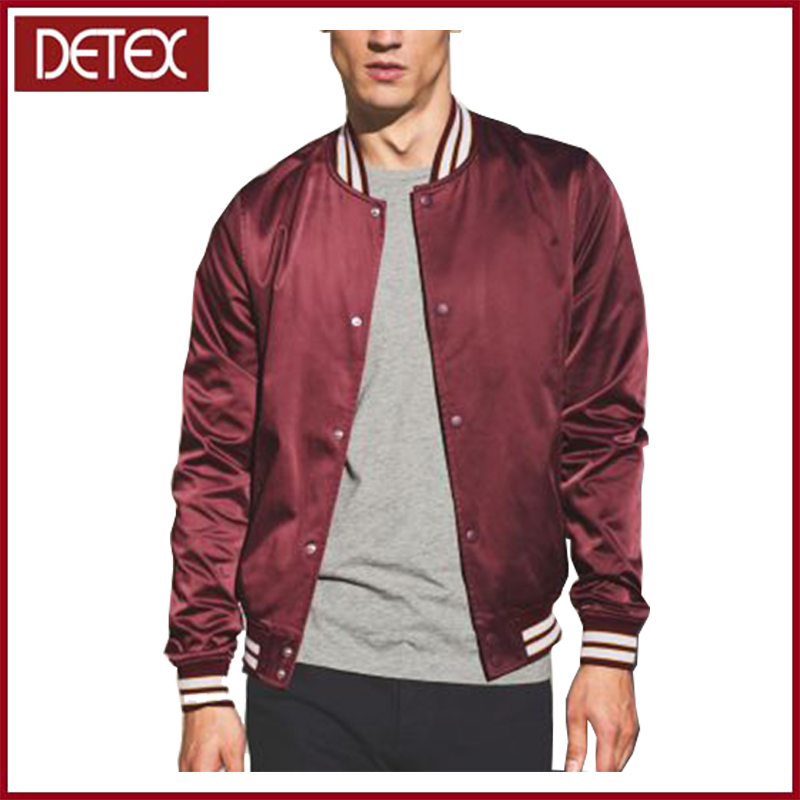 Latest Design Mens Varsity Satin Bomber Jacket Pakistan