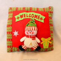 Hot Sale Handmade 34*34cm Christmas Family Decoration Polyester Pillow Christmas Gifts 2015 Santa Claus Pillows