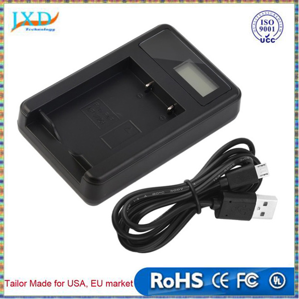 Digital Camera Battery Charger LCD Screen Charging Chargers with USB Cable For Fujifilm NP-W126 Black