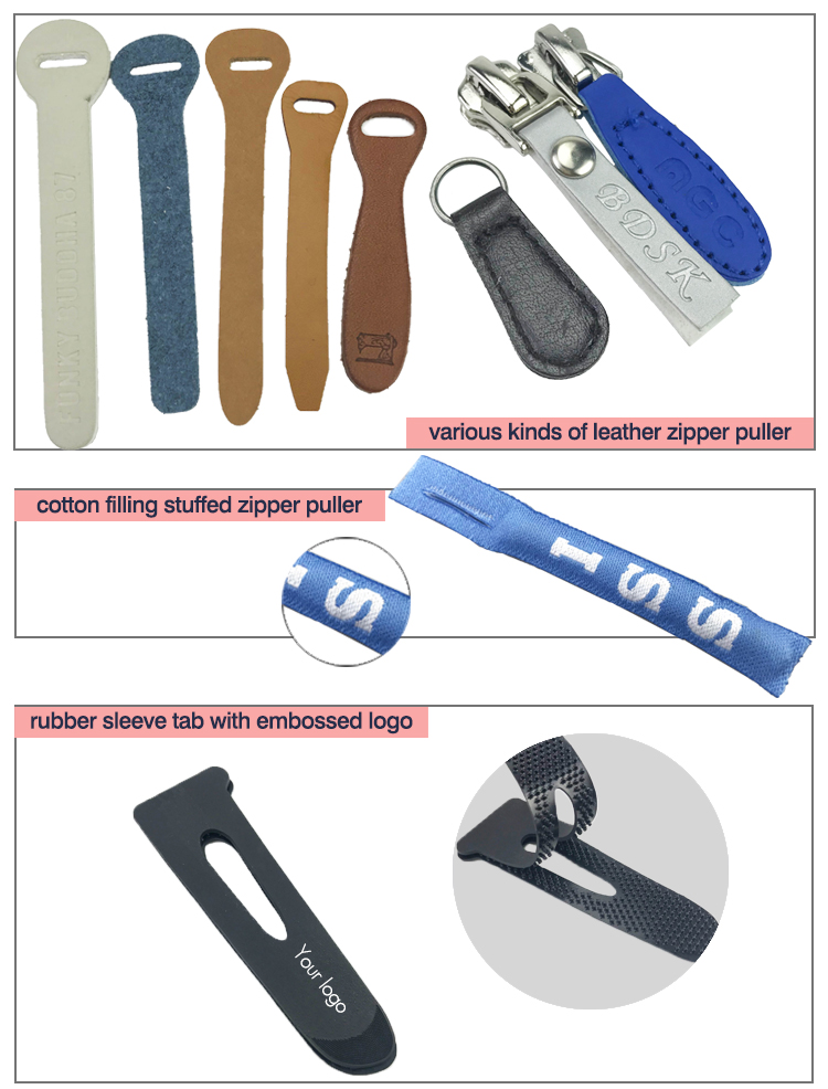 Garment accessory factory OEM design custom rubber zipper pull