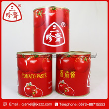Chinese fresh red canned vegetables 70g canned tomato paste 28-30% brix