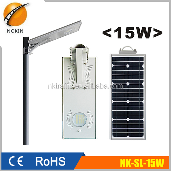 15W solar street light with battery backup