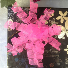 All factory make pre-tied organza curly bow for gift packaging