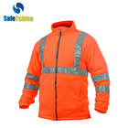 Hi Vis MOQ 200 safety fleece jacket with reflective stripes