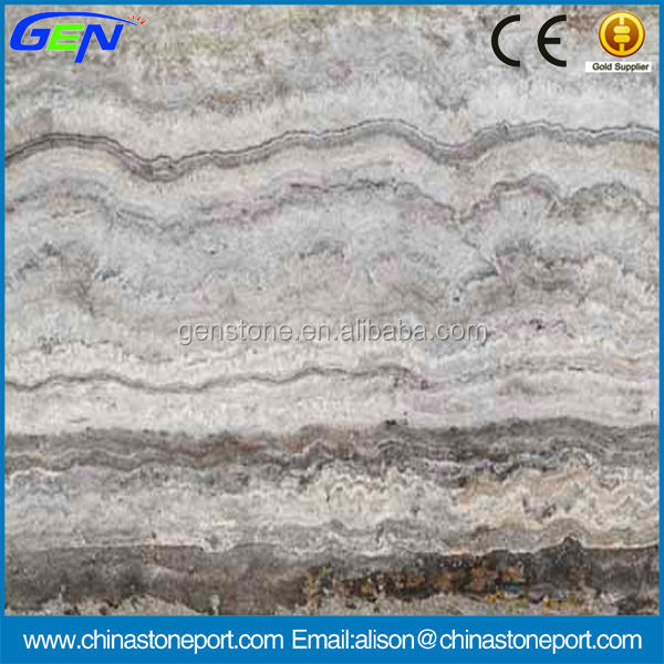 Italian Marble Floor Tile Silver Grey Travertine Flooring Design