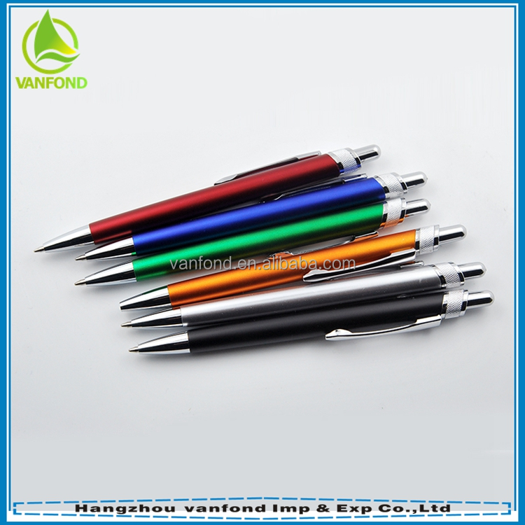 High quality promotional pens pencils with metal clip for office