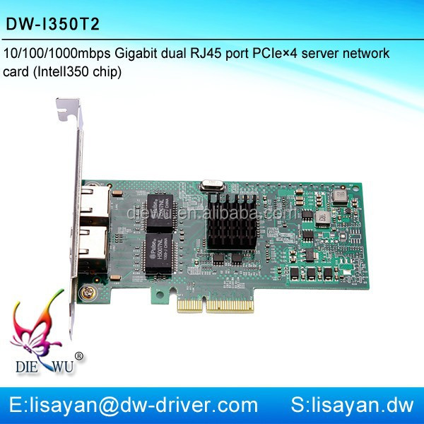 10/100/1000Mbps Intel I350-T2 pci-e dual port server network card