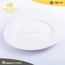 Grade A Wholesale restaurant white porcelain dinner plates with logo for hotel