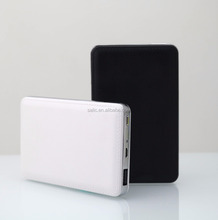 8000 mah mini power bank with LED indicator for battery capacity use ABS+leather processing material