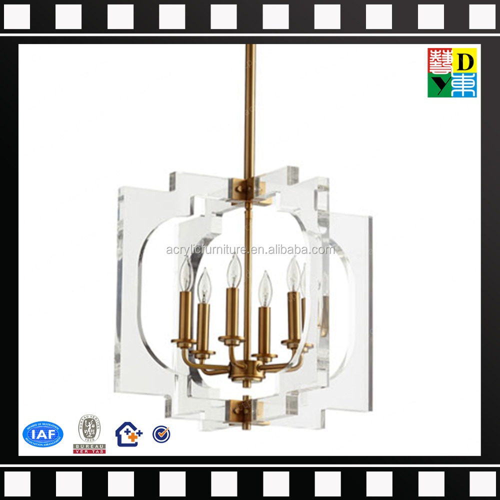 Home/hotel Decorative Lighting Crystal and gold Chandeliers & Pendant Lights Rotating Acrylic Pendant Light