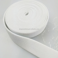 White color wholesale high strength polyester rubber band elastic webbing