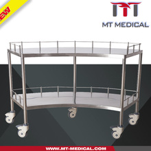 Hospital trolly Medical Stainless Steel Instrument stainless steel serving cart