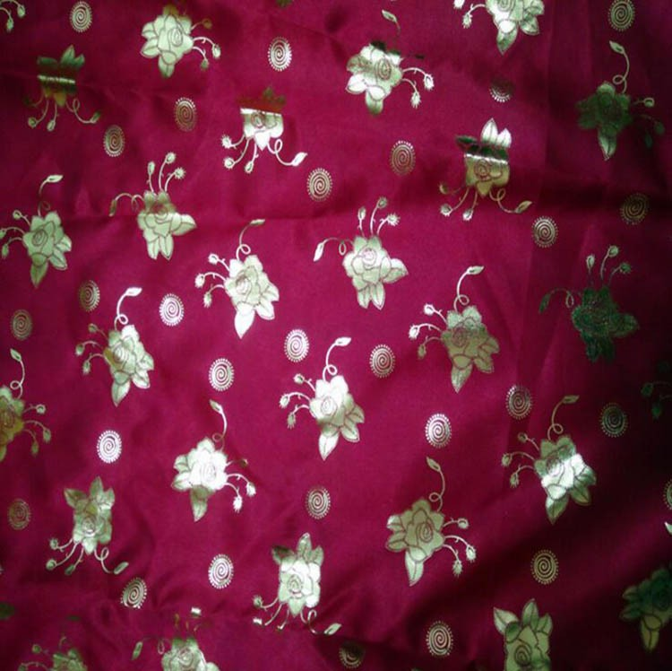 ECO-FRIENDLY silk stretch satin Embroidered