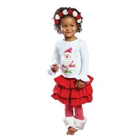 Online Children Clothing Sets Kids Girl Lovely T-Shirt Skirt Suits Of Made In China