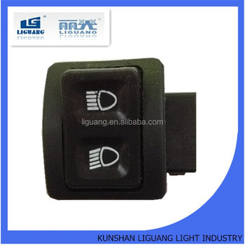 Motorcycle high low beam switch button