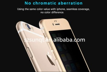 Ultra clear anti fingerprint 0.33mm Titanium Alloy phone 6 screen protector 9h
