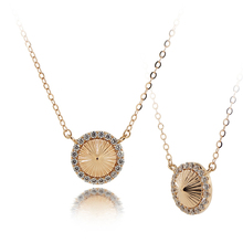 VS0213EN Cone CZ Gold Necklace 18K Rose Gold Jewelry Trendy K Gold Designs