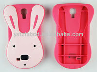 2013 beautiful fashion happy rabbit Silicone Phone Case,silicone cellphone cover for Iphone 5