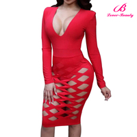 Wholesale Red 2016 Summer Midi Dress Sexy Bodycon Dress