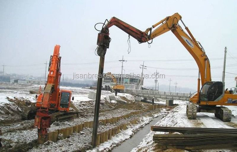 Excavator Hydraulic Arm Project : Hydraulic pile hammer for ton excavator view