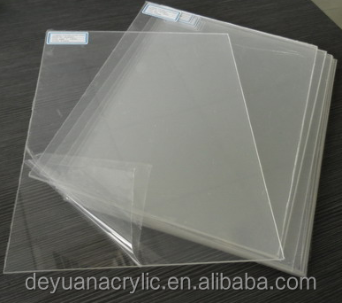 pmma/plexiglass/cast acrylic thin flexible plastic sheets