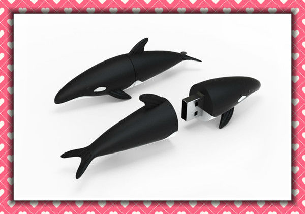 dolphin cartoon shape usb flash memory drive with custom logo memory card