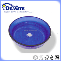 Tempered glass wash hand basin from China