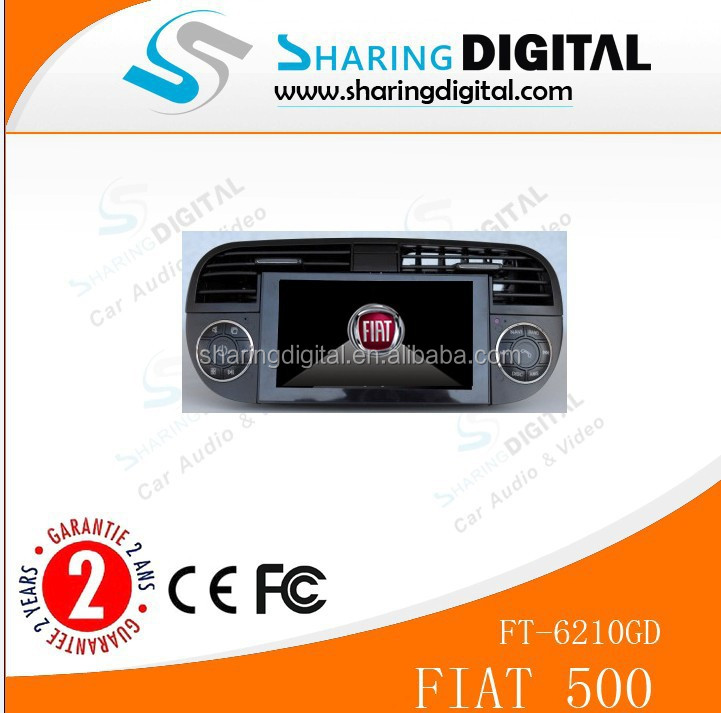 Fiat 500 radio with GPS/DVD/MP3/MP4 FT-6210GD