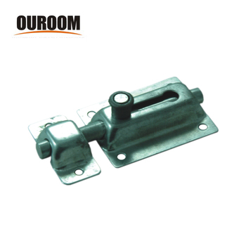 Ouroom/OEM Wholesale Products Custom 160256 Steel+Plastic Material 40mm Cupboard Door Spring Barrel Bolt With Strike And Screws
