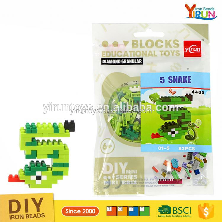 2017 new style Nano intellect ABS plastic mini figure sets toy building block lepin,Snake