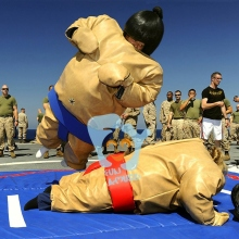 fighting pvc partaulin inflatable sumo wrestling suits for sale