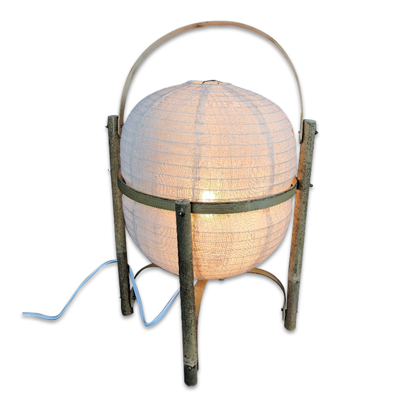New Products Handmade Linen Shade Table <strong>Lamp</strong> Bamboo Frame for Home Decor