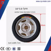solid electric three wheeler tricycle rubber tyre 16*3.0 with tube wheel rim
